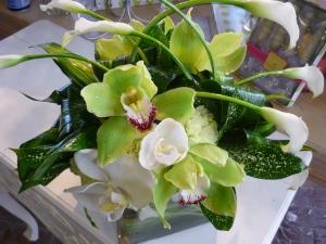 Calla & Tropical Cymbidium Orchids