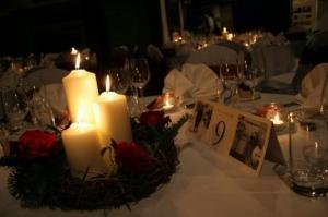 Candle Arrangement In Wicker