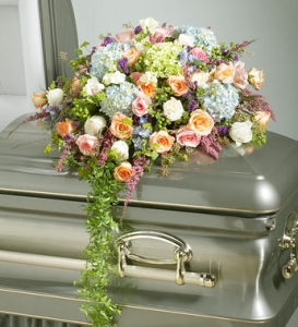 Cascading Casket Spray