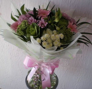 Classic Pink And White Hand Tied