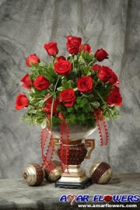 Classic Red Rose Bowl