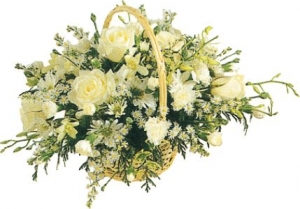 Classical White Basket