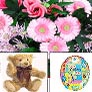 Combo, Flowers, Teddy And Balloon