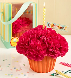 Cupcake In Bloom In Hot Pink