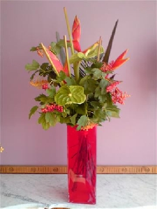Cut Flowers And A Vase