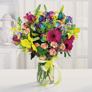 Seasonal Flowers In Vase