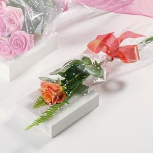 Single Rose In Gift Wrap