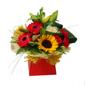 Bright Bouquet In Box