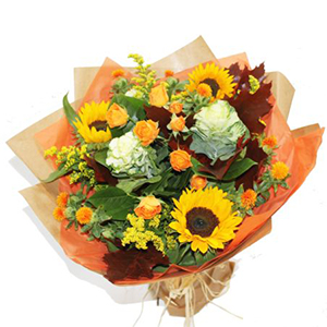 Sunflowers Hand Tied