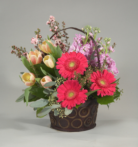 Gerbera Delight Basket