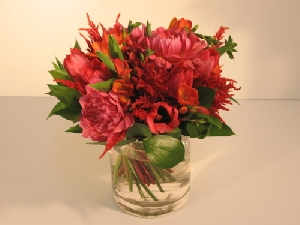 Dahlias, Freesia & Tulips