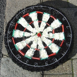 Dartboard Funeral Tribute
