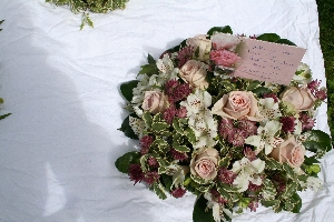 Delicate Pink Funeral Posy