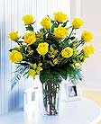 Dozen Long Stem Yellow Roses