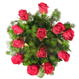 Dozen Red In Vase
