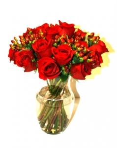 Elegant Roses + Vase