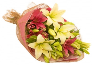 Flower Bouquet Lily Divine