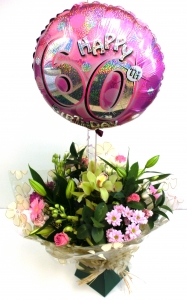 Flowers & Helium Balloon