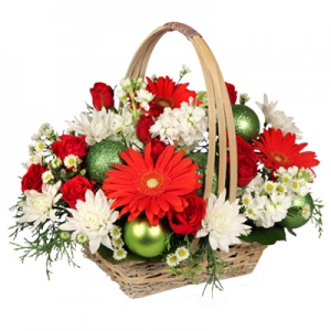 Order Be Jolly Basket flowers