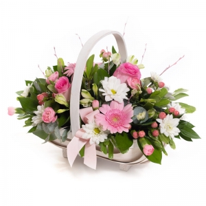 Baby Girl Pink Basket