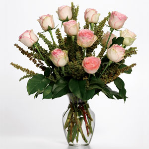Dozen Roses With Accent Flowers