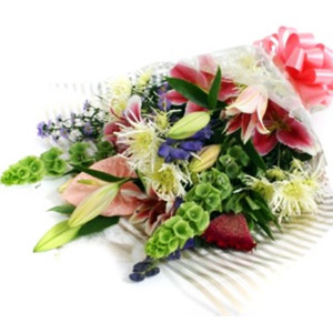 Adorable Wrap Of Flowers Bouquet