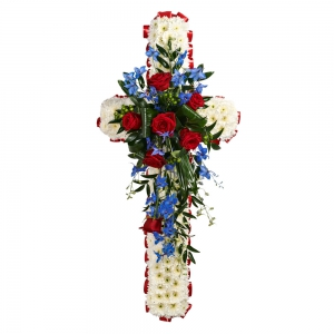 Order Funeral Cross flowers