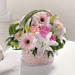 Basket Of Love In Pinks