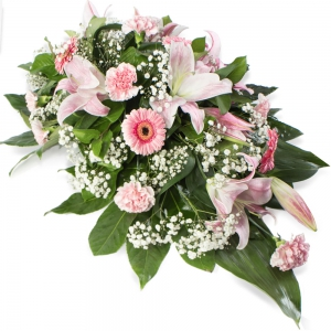 Order Coffin And Casket Floral (Pink) flowers