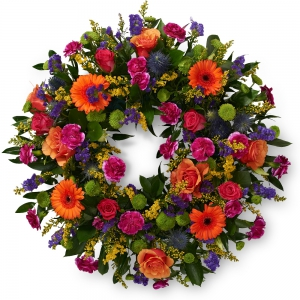 Order Wreath SYM-317 flowers