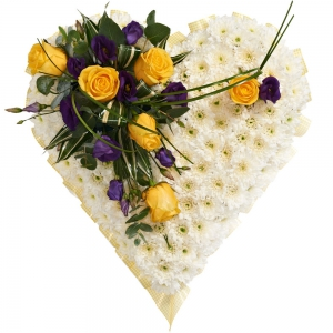 Order Heart Shaped Tribute (Light) flowers