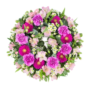 Order Wreath SYM-320 flowers