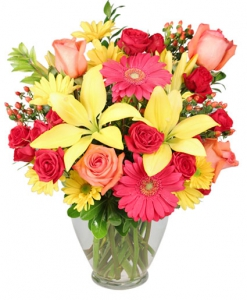 Order Happy Vase flowers