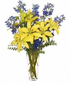 Order Blue flowers