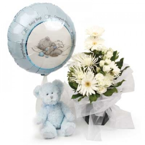 Flowers, Soft Toy & Balloon