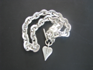 Fob + Heart Necklace