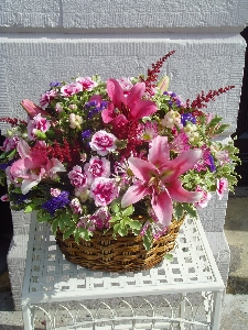 Fresh Baskets Of Flowers