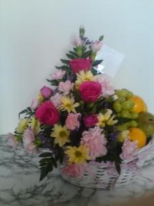 Fresh Floral And Fruit Arrangement