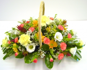 Fresh Floral Basket Cream