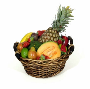 Fresh Fruit Baskets.