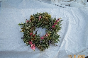 Fresh Herb & Flower Wreath