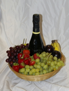 Fruit And Champagne Basket