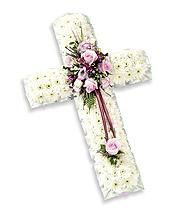 Funeral Flowers Arranged In A Cross