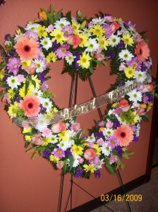 Funeral Heart Tribute