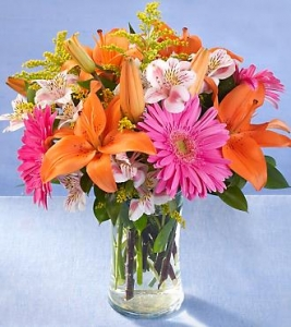 Gerbera Daisy And Lilies
