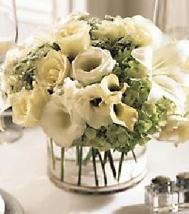 Gracefully White Centerpiece