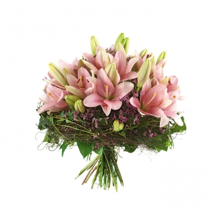 Handtied Bouquet Of Lillies