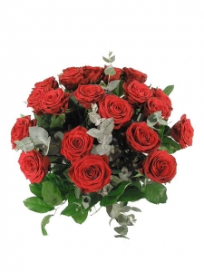 Handtied Bouquet Of Red Roses
