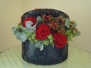 Hat Box Full Of Flowers