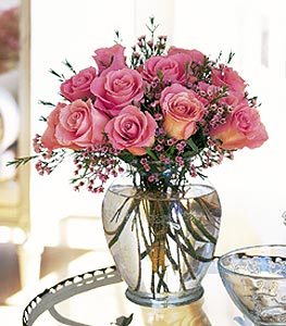 """""""Her"""" Birthday Pink Roses"""